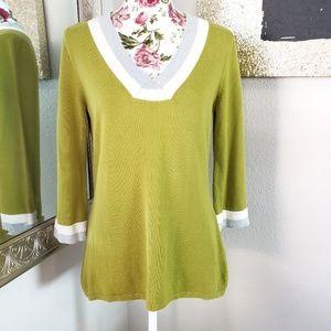 3/$35 Banana Republic Factory Tri-Color Sweater